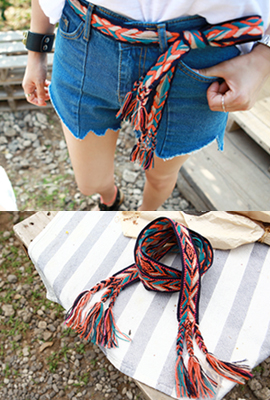 Rainbow knot belt (HAND MADE) (4 primary stock)
