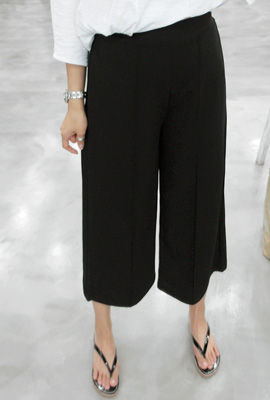 Banding cut Wide pants (31 primary stock)