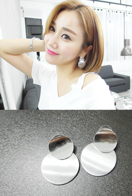 Double circle earrings (secondary stock)