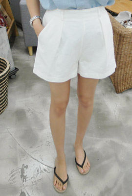 Back banding pinch short pants (25th stock)