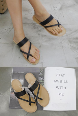 Thumb strap slippers (4th stock)