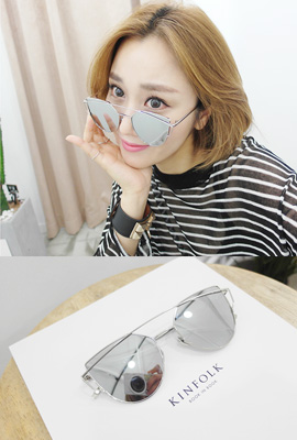 Thin frame mirror sunglasses (3rd stock)