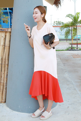 Flare Dress color Long (3rd stock)