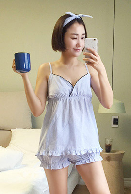 Give sleeveless pajamas set (2 tea stock)