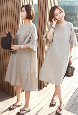 Flare line long dress (29th stock)