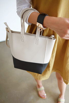 Color leather shoulder bag (secondary stock)