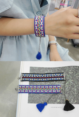 Unique embroidery tassel bracelet
