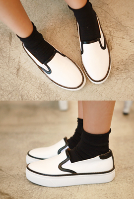 Real Leather Slip-on line