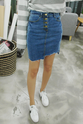 Marion cutting fabric denim skirt button (6th in stock)