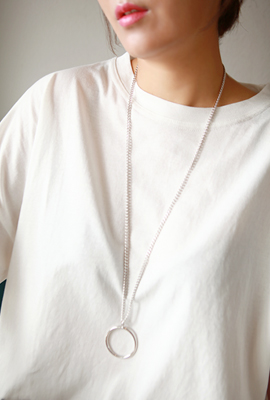 Long Circle Chain Necklace