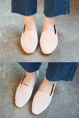 Basic real leather loafers