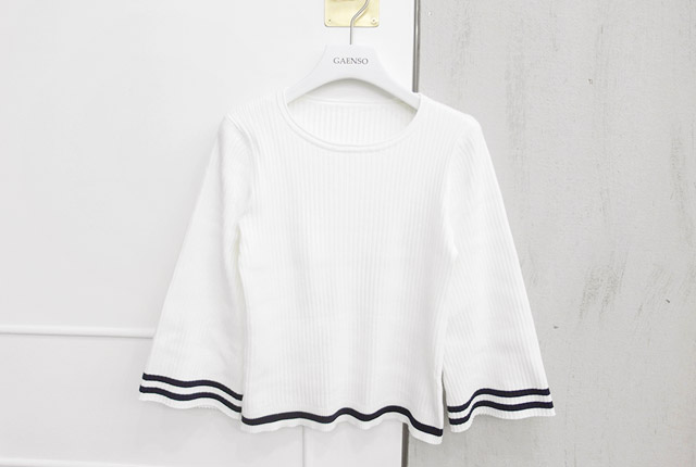 Wide color knit tee line (45 pieces stock)