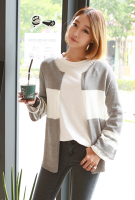 Retail wide open cardigan color