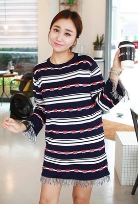 Mix surgical pattern Knit Dress