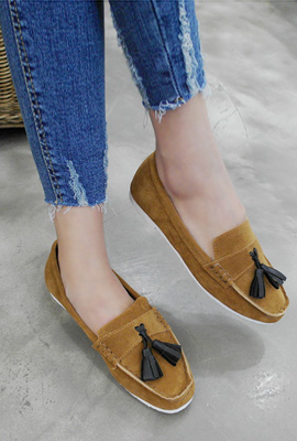 Leather tassel loafers (9th stock)