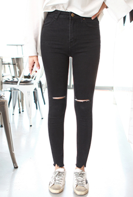 Simple cut skinny jeans High (5th stock)