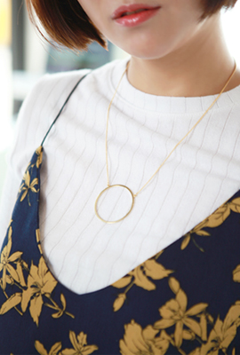 Big Circle Chain Necklace
