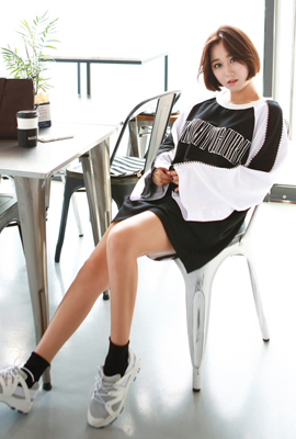 Funny wide color tee (3rd stock)