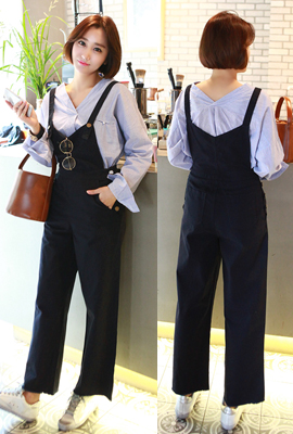 Cutting wide pants with suspenders