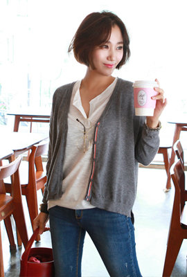 Non-fading cardigan (second stock)