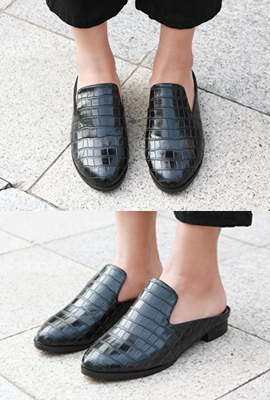 Crocker leather slipper loafers