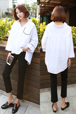 Marion open-necked blouses line (secondary stock)