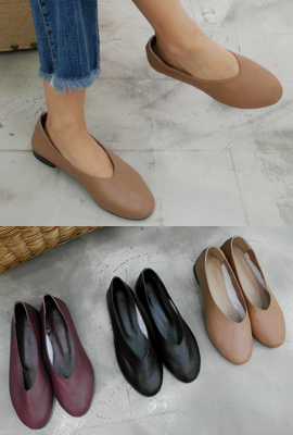 Real Leather Flat shoes (secondary stock)