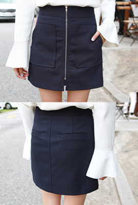 Two zippered pockets skirt (secondary stock)