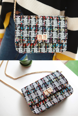 Tweed square cross bag (Stock tertiary)