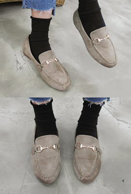 Buckle suede loafers (5th stock)