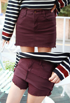 Skirt hem skirt pants (stock 5)