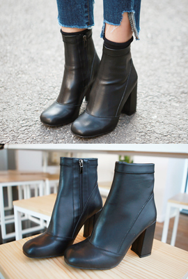 Ankle boots with chic incision (5th stock)