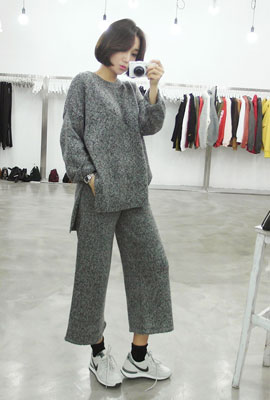 Marion teuim knit two-piece set (6 primary stock)