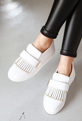 Mini stud fringe slip-on (stock 21st stock)
