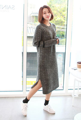 Long line-to-knit dress (3rd stock)