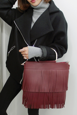 Fringe Leather Tote (secondary stock)
