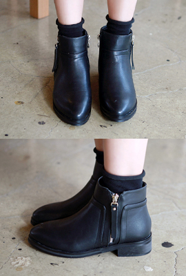 Zip line incision flops Ankle Boots (4th restocking)