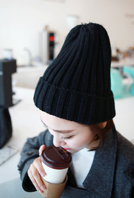 Basic color knit beanie (19th stock)