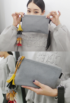 Colored tassels clutch (third-order stock)