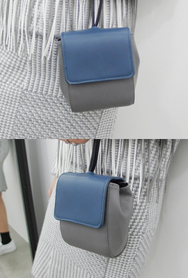 Color scheme Leather Mini Bag