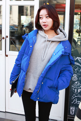 Regeulreon padded hooded jumper wire