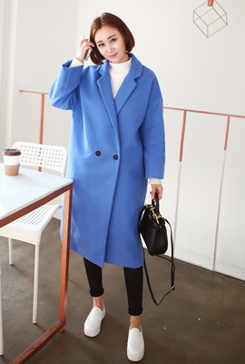 One button long coat sleeves cut