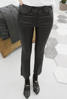 Coated, brushed boot cut pants (6th in stock)
