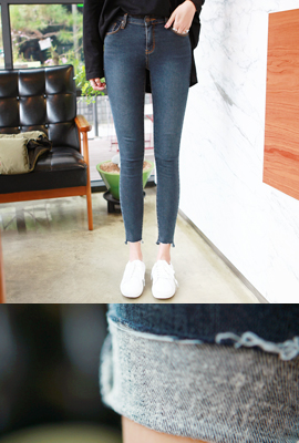 Marion cut, brushed slim skinny jeans (5th stock)