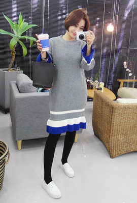 Dangara Mix Knit Dress (4th restocking)