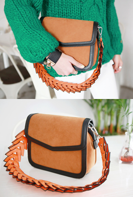 Suede Shoulder Strap Arrow