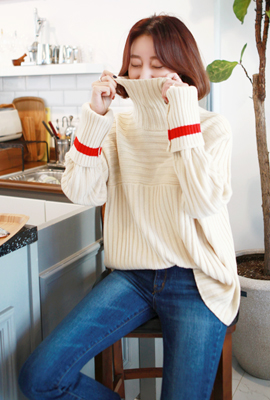 Paula color long sleeve knit T (6th in stock)