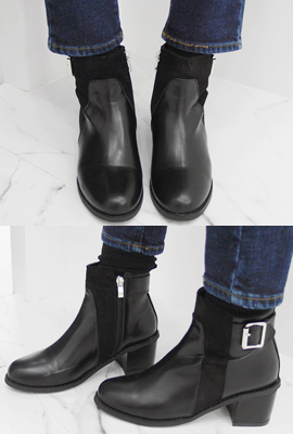Sweip mix Ankle Boots