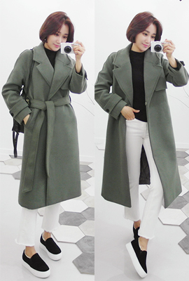 Quilted wool trench coat (6th in stock)