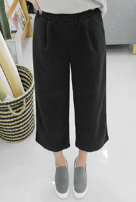 Wide wool pants banding (secondary stock)